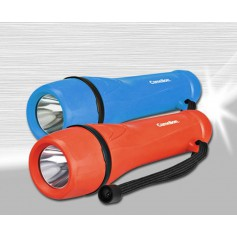 Camelion rubber flashlight including 2x AA batteries