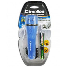 Camelion, Camelion rubber flashlight including 2x AA batteries, Flashlights, BS404-CB, EtronixCenter.com