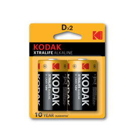 Kodak - Kodak XTRALIFE D/LR20 Alkaline - Size C D 4.5V XL - BS408-CB