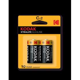 Kodak, Kodak XTRALIFE C/LR14 Alkaline - 2 Pieces, Size C D 4.5V XL, BS409-CB