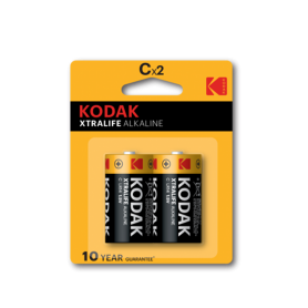 Kodak, Kodak XTRALIFE C/LR14 Alkaline, Size C D 4.5V XL, BS409-CB, EtronixCenter.com