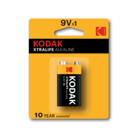 Kodak - Kodak XTRALIFE Alkaline 6LR61 9V battery - Other formats - BS410-CB