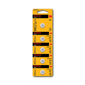 Kodak - Kodak Max CR2016 3V Lithium Battery - 5 Pieces - Button cells - BS416-CB
