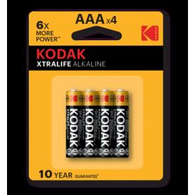 Kodak - Kodak XTRALIFE alkaline AAA/LR03 1.5V - Size AAA - BS420-CB www.NedRo.us