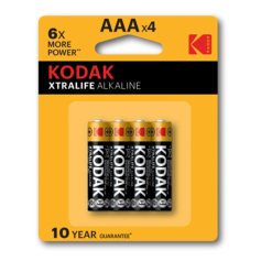 Kodak - Kodak XTRALIFE alkaline AAA/LR03 1.5V - Size AAA - BS420-CB