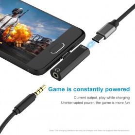NedRo - USB-C (USB Type C) Male to Audio 3.5mm Female adapter - Audio adapters - AL612-CB www.NedRo.us