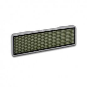 Sertronics - Sertronics LED name tag 9.3x3cm silver edge - LED gadgets - ON6295-CB www.NedRo.us