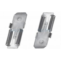 Oem - 2x Clamp adapter Terminal for lead battery - from 4.74mm to 6.35mm (F1 to F2) - Battery accessories - NK439