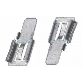 NedRo - 2x Clamp adapter Terminal for lead battery - from 6.35mm to 4.74mm (F2 to F1) - Battery accessories - NK440 www.NedRo.us