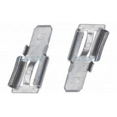 NedRo - 2x Clamp adapter Terminal for lead battery - from 6.35mm to 4.74mm (F2 to F1) - Battery accessories - NK440