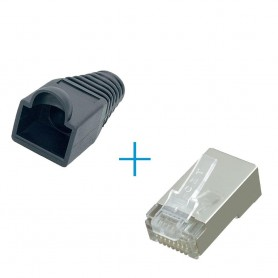 unbranded, RJ45 Connector Set - plugs and boots, Network adapters, YNK301-CB