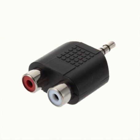 Oem - Tulip Jack 3.5 mm Stereo Adapter Converter 2x Composite 6043 - Audio adapters - 6043