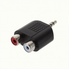 Tulip Jack 3.5 mm Stereo Adapter Converter 2x Composite 6043