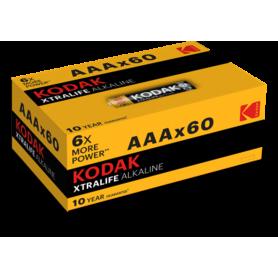 Kodak - 60-Pack Kodak XTRALIFE alkaline AAA/LR03 1.5V - Size AAA - BS426