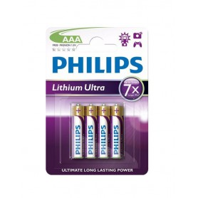 PHILIPS - Philips Ultra FR03 Micro AAA 1.5V 1100 mAh Battery Lithium - Size AAA - BS429-CB