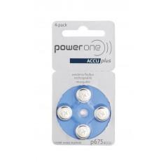 PowerOne by Varta 675/PR44 1.2V 70 mAh Ni-MH Hearing Aid Battery