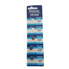 Panasonic Lithium CR1025 3V battery (Blister of 5 pieces)