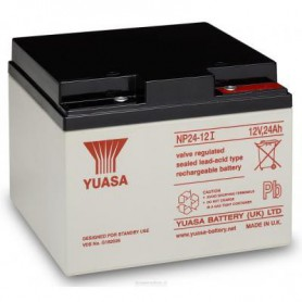 Yuasa - Yuasa NP24-12 Rechargeable Lead Acid Battery 12v / 24 Ah - Battery Lead-acid  - BS457