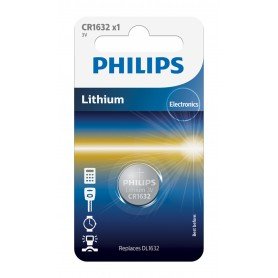 PHILIPS - Philips CR1632 3V lithium button cell battery - Button cells - BS026-CB