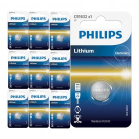 PHILIPS, Philips CR1632 3V lithium button cell battery, Button cells, BS026-CB