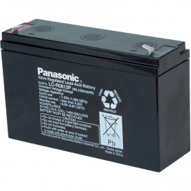 Panasonic - Panasonic 6V LC-R0612P Rechargeable Lead-acid battery 12 Ah (6.3mm) - Battery Lead-acid  - NK456