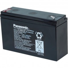 Panasonic - Panasonic 6V LC-R0612P Rechargeable Lead-acid battery 12 Ah (6.3mm) - Battery Lead-acid  - NK456