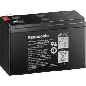 Panasonic - Panasonic LC-R127R2PG1 Rechargeable Lead-acid Battery 12V / 7.2Ah / 20HR (6.3mm) - Battery Lead-acid  - NK460