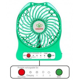 NedRo - Portable rechargeable LED light fan with 18650 battery and charging cable - Computer gadgets - AL1092-CB