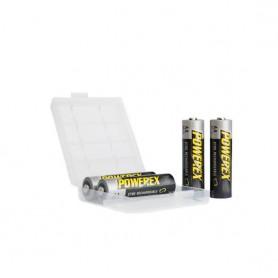 POWEREX - 4 x AA Maha Powerex Pro Rechargeable Batteries - 1.2V 2700mAh - Size AA - PW001 www.NedRo.us