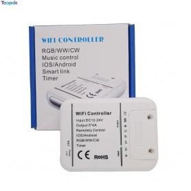 NedRo - DC12V-24V Wifi LED Controller RGB/RGBW/RGBWW Strip 16 Million Colors Music and Timer Mode Wifi Control by IOS/Android...