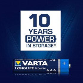 Varta - AAA LR03 Varta Longlife Power alkaline battery 1.5V - Size AAA - BS460-CB