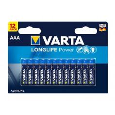 AAA LR03 Varta Longlife Power alkaline battery 1.5V - 12 Pieces / Blister