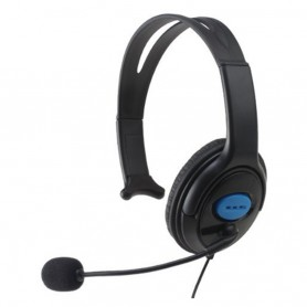 NedRo - Gaming Headset 3.5mm single headphone with microphone wired for Sony PS4 - PlayStation 4 - AL1094