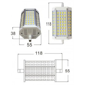 NedRo, R7S 118mm 30W 64x SMD 5730 LED Lamp Warm white - Dimmable, Tube lamps, AL1090-WWD-CB