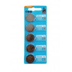 Vinnic - 5x Vinnic CR2025 / DL2025 3V 160mAh Lithium button cell battery - Button cells - BL277-CB
