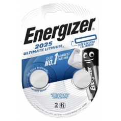 Energizer CR2025 (2-Pack) 170mAh 3V lithium button cell battery