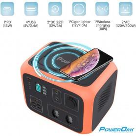 PowerOak - PowerOak PS6 500Wh solar AC/DC generator - Powerbanks - PON-PS6