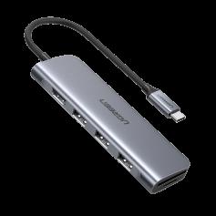 UGREEN - 6in1 USB-C C Type USB C to 4K HDMI 2x USB 3.0 SD TF Card - USB adapters - UG-70410
