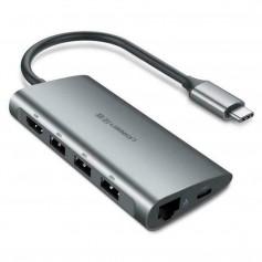UGREEN - 8in1 USB-C PD C Type USB C to 4K HDMI USB-C PD RJ45 USB 3.0 SD TF Card - USB adapters - UG-50538