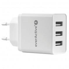 EverActive 3xUSB 5V / 2.4A (3.4A max) AC charger