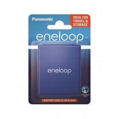 Eneloop - Panasonic eneloop Blue transport box for batteries Mignon (AA) / Micro (AAA) - Battery accessories - BL335