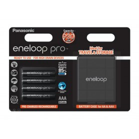 Eneloop - AAA R3 Panasonic Eneloop PRO Rechargeable Batteries + Free storage box - Size AAA - BL337
