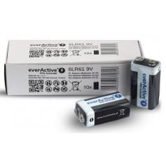 EverActive - 10x everActive PRO 6LR61 6LF22 E-Block 9V 550mAh alkaline batteries - Other formats - BL339