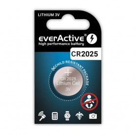 EverActive, CR2025 everActive 165mAh 3V button cell battery, Button cells, BL342