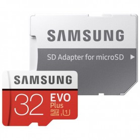 Samsung - 32GB Samsung EVO PLUS UHS-I U1 Class 10 MicroSDHC memory card with SD adapter - SD and USB Memory - BL345