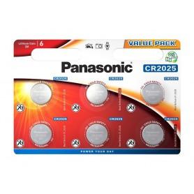 Panasonic - 6-Pack Panasonic CR2025 3V 165mAh Lithium button cell battery - Button cells - BL347