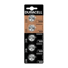 5-Pack DURACELL CR2025 3V Lithium button cell battery