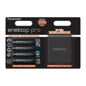 Eneloop - Panasonic eneloop PRO AA R6 2500mAh 1.2V Rechargeable Battery + Free storage / travel box - Size AA - BL349