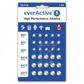 EverActive - 30x everActive PACK AG3 / AG4 / AG10 / AG13 Alkaline - Button cells - BL351