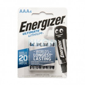 Energizer, AAA L92 Energizer Ultimate Lithium 1250mAh 1.5V, Size AAA, NK429-CB